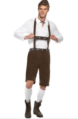 Oktoberfest Beer Man Costume - Brown (74298)